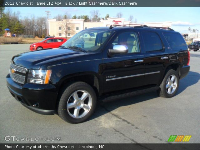 black 2012 chevrolet tahoe ltz 4x4 light cashmere dark cashmere interior. Black Bedroom Furniture Sets. Home Design Ideas