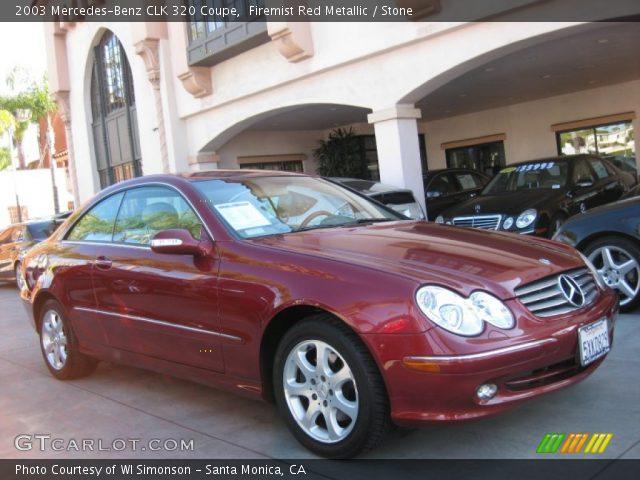 Firemist red metallic 2003 mercedes benz clk 320 coupe for 2003 mercedes benz clk 320