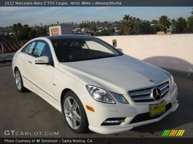 2012 Mercedes-Benz E 550 Coupe in Arctic White