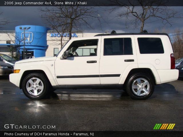 Stone White 2006 Jeep Commander 4x4 Khaki Interior Vehicle Archive 59584057