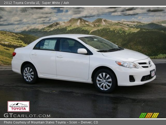 2012 Toyota Corolla LE in Super White