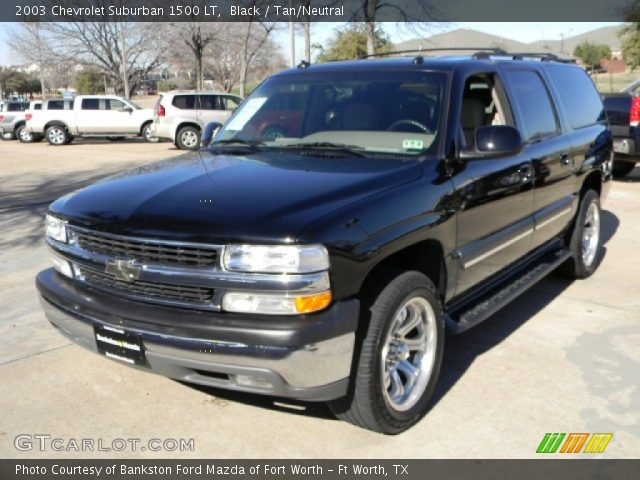black 2003 chevrolet suburban 1500 lt tan neutral interior vehicle archive. Black Bedroom Furniture Sets. Home Design Ideas
