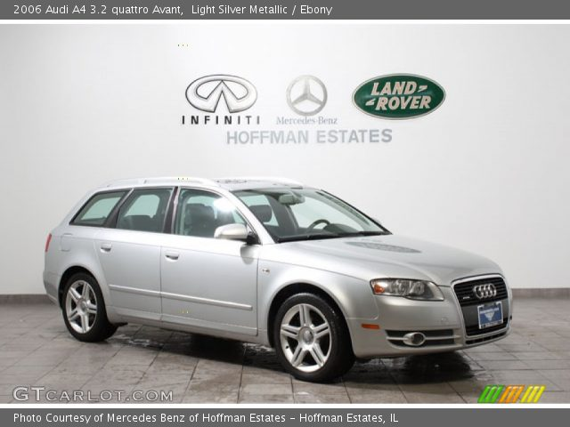 light silver metallic 2006 audi a4 3 2 quattro avant ebony interior vehicle. Black Bedroom Furniture Sets. Home Design Ideas