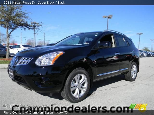 Super black 2012 nissan rogue sv black interior - 2012 nissan rogue exterior colors ...