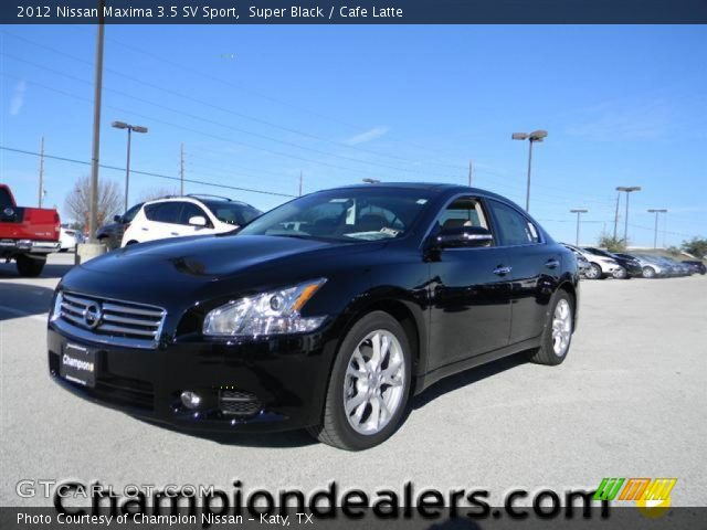super black 2012 nissan maxima 3 5 sv sport cafe latte interior vehicle. Black Bedroom Furniture Sets. Home Design Ideas