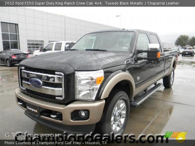 tuxedo black metallic 2012 ford f350 super duty king ranch crew cab 4x4 chaparral leather. Black Bedroom Furniture Sets. Home Design Ideas