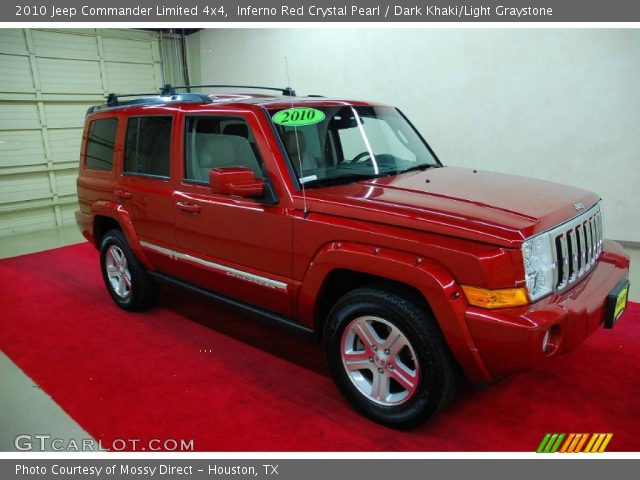 inferno red crystal pearl 2010 jeep commander limited. Black Bedroom Furniture Sets. Home Design Ideas