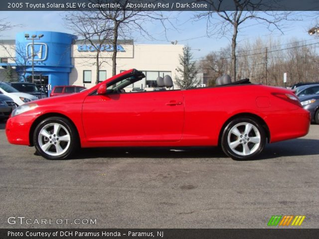 absolutely red 2005 toyota solara sle v6 convertible. Black Bedroom Furniture Sets. Home Design Ideas