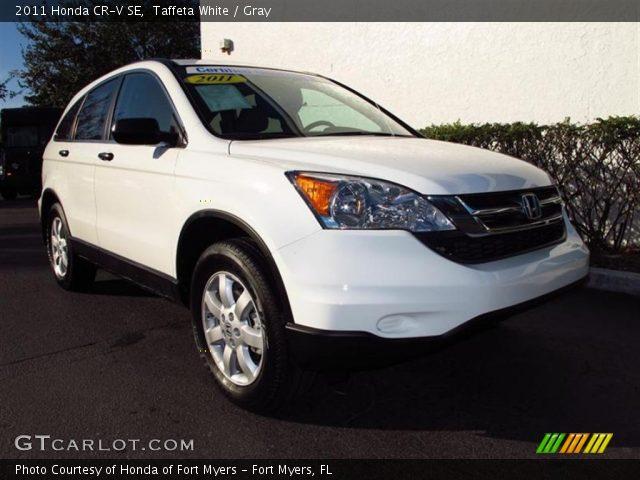 Taffeta White 2011 Honda Cr V Se Gray Interior