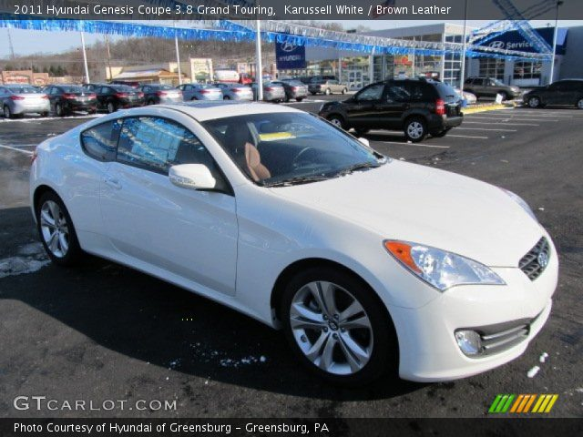 karussell white 2011 hyundai genesis coupe 3 8 grand touring brown leather interior. Black Bedroom Furniture Sets. Home Design Ideas