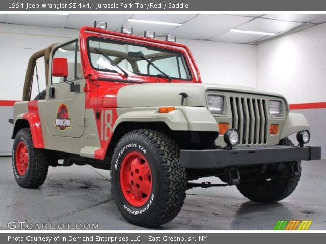 jurassic park tan red 1994 jeep wrangler se 4x4 saddle interior vehicle. Black Bedroom Furniture Sets. Home Design Ideas