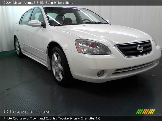 Satin White 2004 Nissan Altima 35 Se Blond Interior Gtcarlot