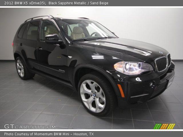 black sapphire metallic 2012 bmw x5 xdrive35i sand beige interior vehicle. Black Bedroom Furniture Sets. Home Design Ideas