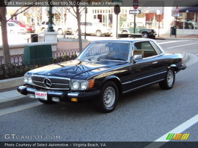 1981 Mercedes-Benz SL Class 380 SLC Coupe in Black