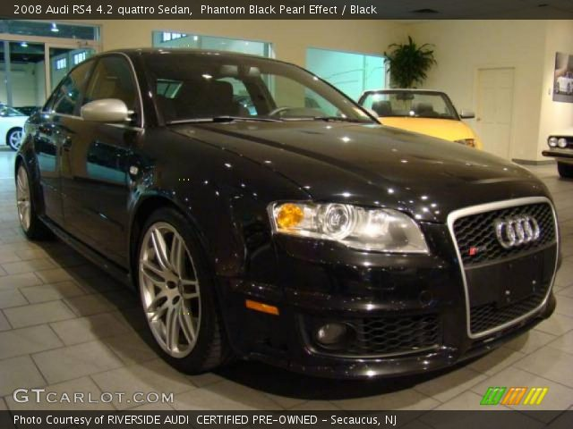 phantom black pearl effect 2008 audi rs4 4 2 quattro sedan black interior. Black Bedroom Furniture Sets. Home Design Ideas