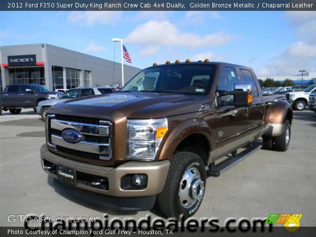 golden bronze metallic 2012 ford f350 super duty king ranch crew cab 4x4 dually chaparral. Black Bedroom Furniture Sets. Home Design Ideas