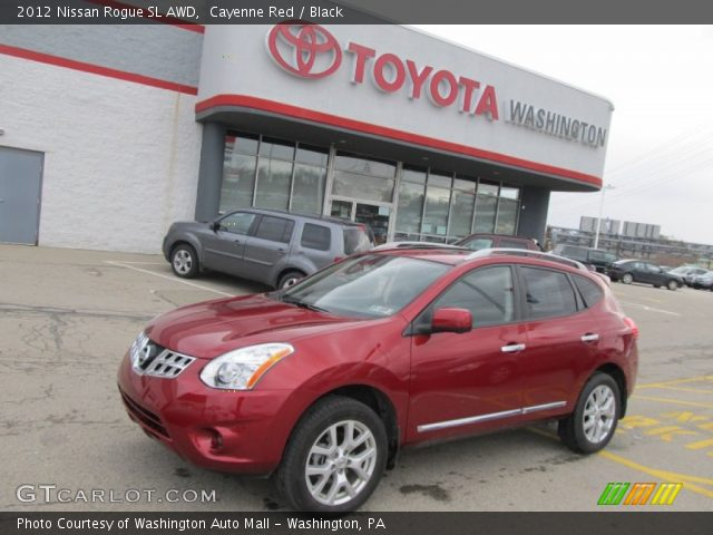 Cayenne red 2012 nissan rogue sl awd black interior - 2012 nissan rogue exterior colors ...
