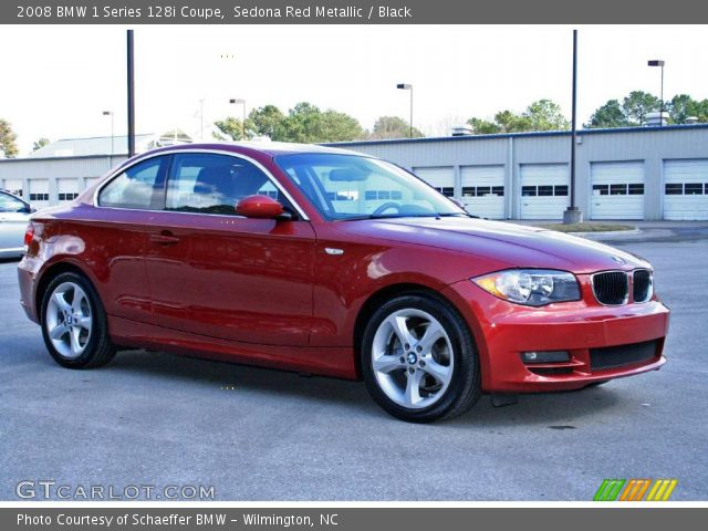 sedona red metallic 2008 bmw 1 series 128i coupe black interior vehicle. Black Bedroom Furniture Sets. Home Design Ideas