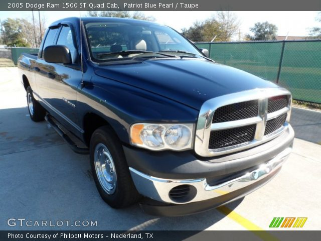 patriot blue pearl 2005 dodge ram 1500 st quad cab taupe interior vehicle. Black Bedroom Furniture Sets. Home Design Ideas