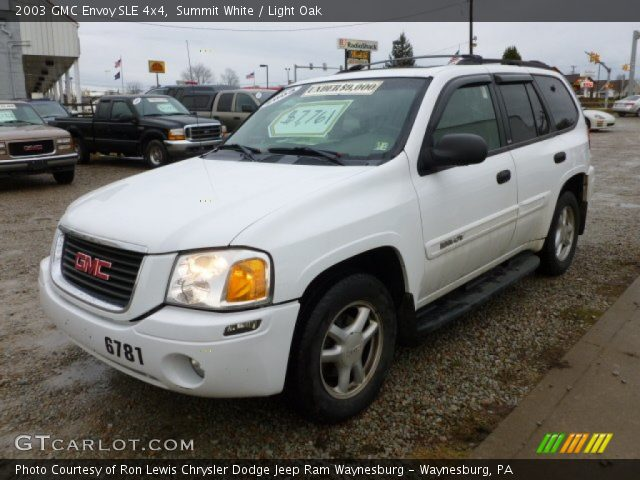 summit white 2003 gmc envoy sle 4x4 light oak interior. Black Bedroom Furniture Sets. Home Design Ideas