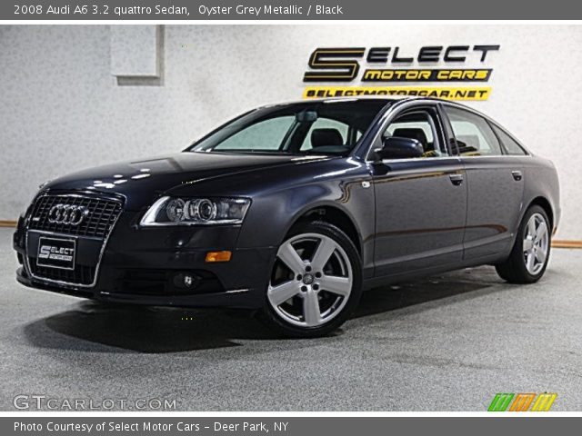 oyster grey metallic 2008 audi a6 3 2 quattro sedan black interior vehicle. Black Bedroom Furniture Sets. Home Design Ideas