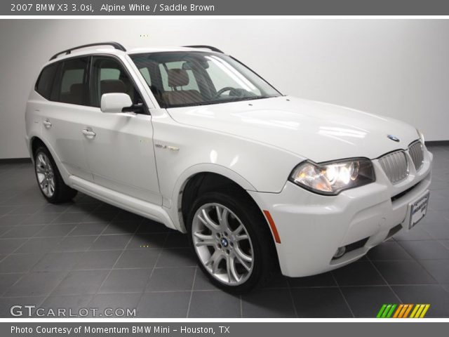 alpine white 2007 bmw x3 saddle brown interior vehicle archive 59860316. Black Bedroom Furniture Sets. Home Design Ideas