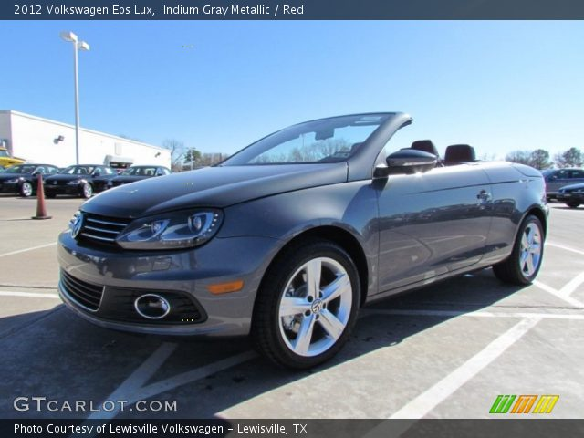 indium gray metallic 2012 volkswagen eos lux red. Black Bedroom Furniture Sets. Home Design Ideas