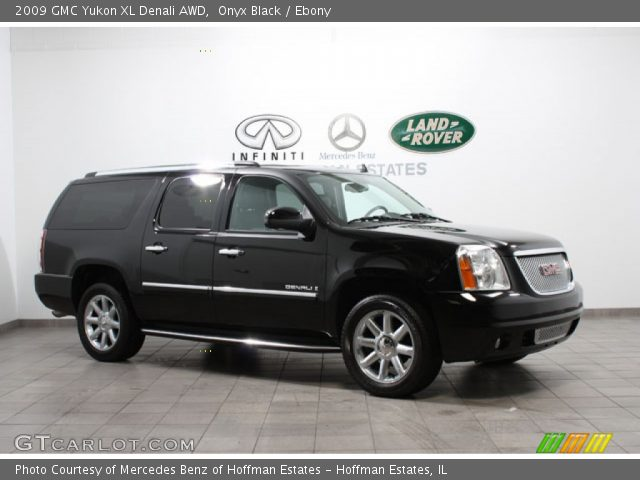 onyx black 2009 gmc yukon xl denali awd ebony interior. Black Bedroom Furniture Sets. Home Design Ideas