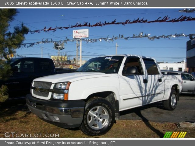 summit white 2005 chevrolet silverado 1500 lt crew cab 4x4 dark charcoal interior gtcarlot. Black Bedroom Furniture Sets. Home Design Ideas