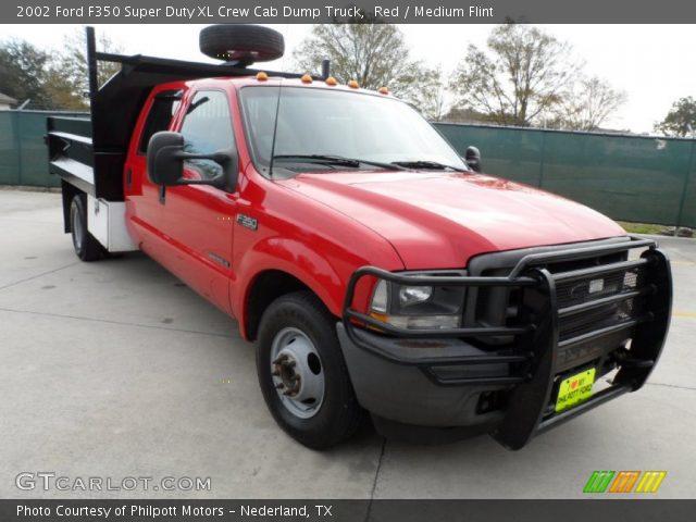 2002 Ford F350 Xl Crew Cab Super Duty News >> Red - 2002 Ford F350 Super Duty XL Crew Cab Dump Truck - Medium Flint Interior   GTCarLot.com ...