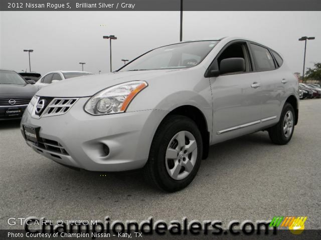 Brilliant silver 2012 nissan rogue s gray interior - 2012 nissan rogue exterior colors ...