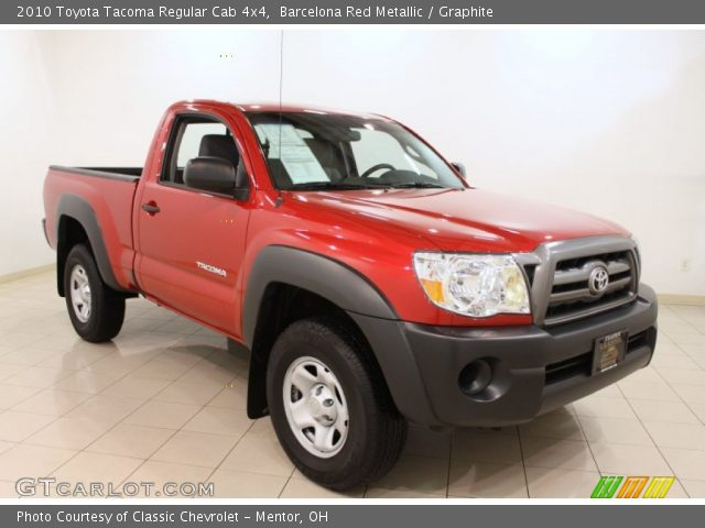 barcelona red metallic 2010 toyota tacoma regular cab 4x4 graphite interior. Black Bedroom Furniture Sets. Home Design Ideas