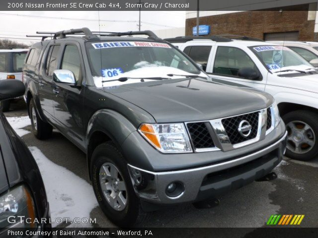 storm gray 2006 nissan frontier se crew cab 4x4 charcoal interior vehicle. Black Bedroom Furniture Sets. Home Design Ideas