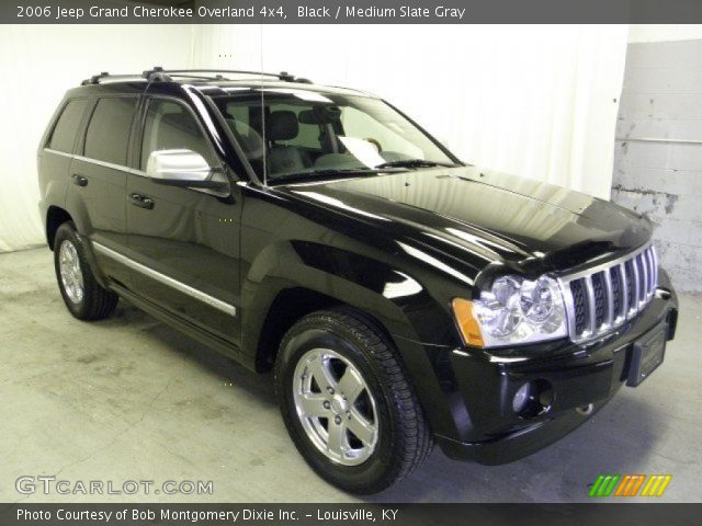 black 2006 jeep grand cherokee overland 4x4 medium slate gray interior. Black Bedroom Furniture Sets. Home Design Ideas