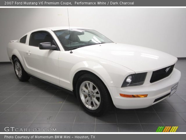 performance white 2007 ford mustang v6 premium coupe. Black Bedroom Furniture Sets. Home Design Ideas