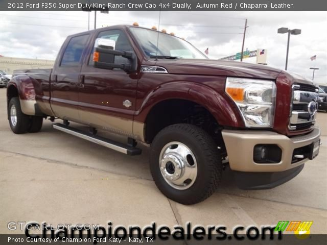 autumn red 2012 ford f350 super duty king ranch crew cab 4x4 dually chaparral leather. Black Bedroom Furniture Sets. Home Design Ideas