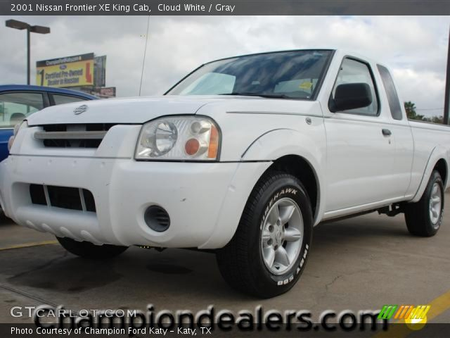 cloud white 2001 nissan frontier xe king cab gray interior vehicle archive. Black Bedroom Furniture Sets. Home Design Ideas