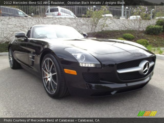 2012 Mercedes-Benz SLS AMG Roadster in Obsidian Black Metallic
