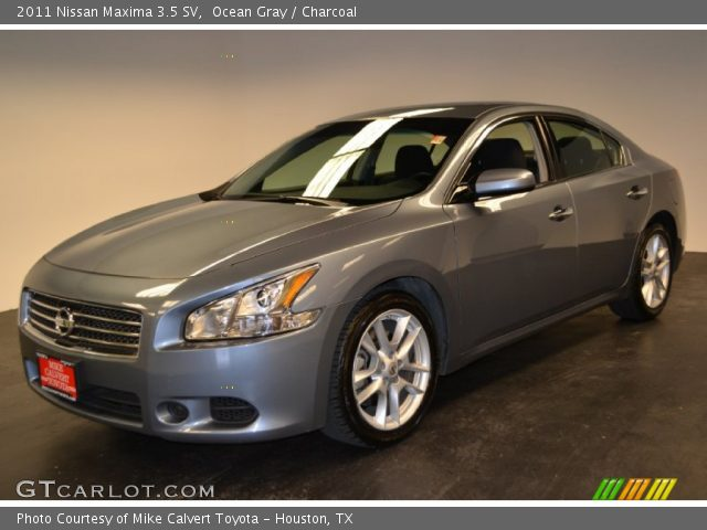 ocean gray 2011 nissan maxima 3 5 sv charcoal interior vehicle archive. Black Bedroom Furniture Sets. Home Design Ideas