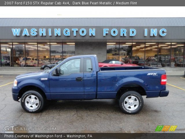 dark blue pearl metallic 2007 ford f150 stx regular cab 4x4 medium flint interior gtcarlot. Black Bedroom Furniture Sets. Home Design Ideas
