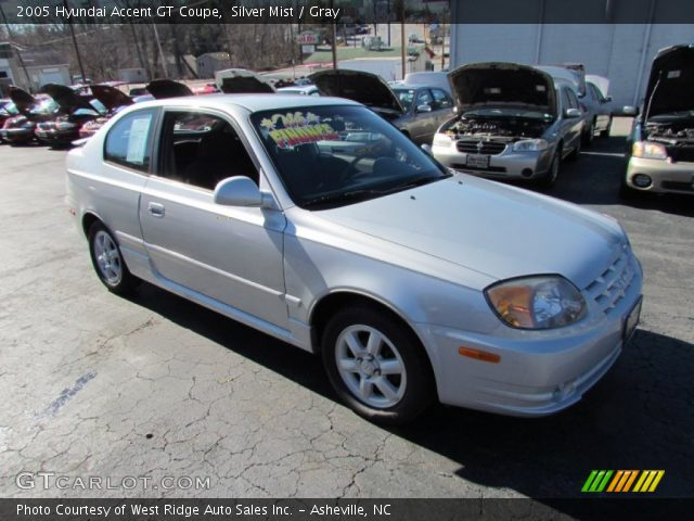 silver mist 2005 hyundai accent gt coupe gray interior. Black Bedroom Furniture Sets. Home Design Ideas