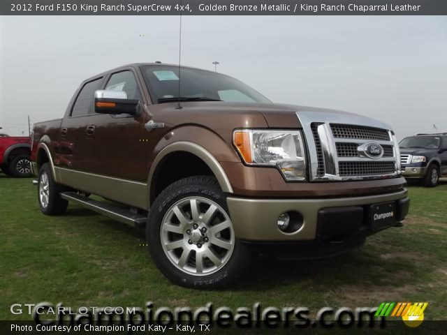 golden bronze metallic 2012 ford f150 king ranch supercrew 4x4 king ranch chaparral leather. Black Bedroom Furniture Sets. Home Design Ideas