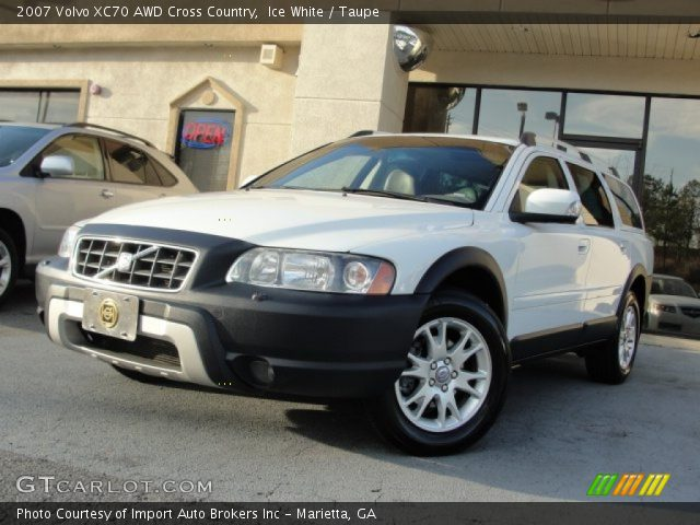 ice white 2007 volvo xc70 awd cross country taupe interior vehicle archive. Black Bedroom Furniture Sets. Home Design Ideas