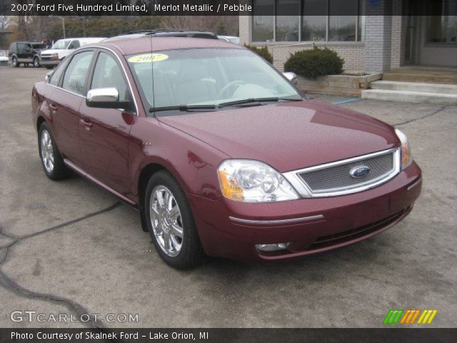 merlot metallic 2007 ford five hundred limited pebble. Black Bedroom Furniture Sets. Home Design Ideas