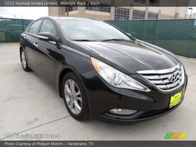 midnight black 2012 hyundai sonata limited black interior vehicle archive. Black Bedroom Furniture Sets. Home Design Ideas