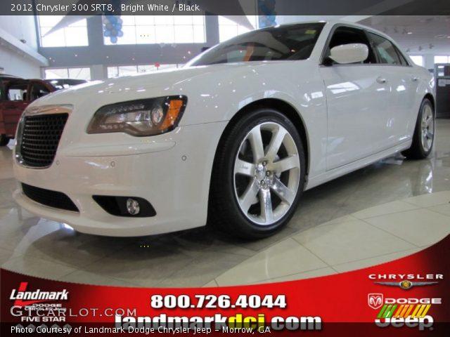 Bright White 2012 Chrysler 300 Srt8 Black Interior Vehicle Archive 60181508