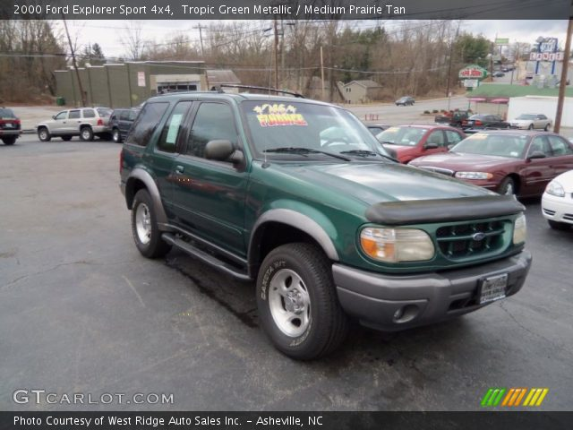 tropic green metallic 2000 ford explorer sport 4x4 with medium prairie. Cars Review. Best American Auto & Cars Review