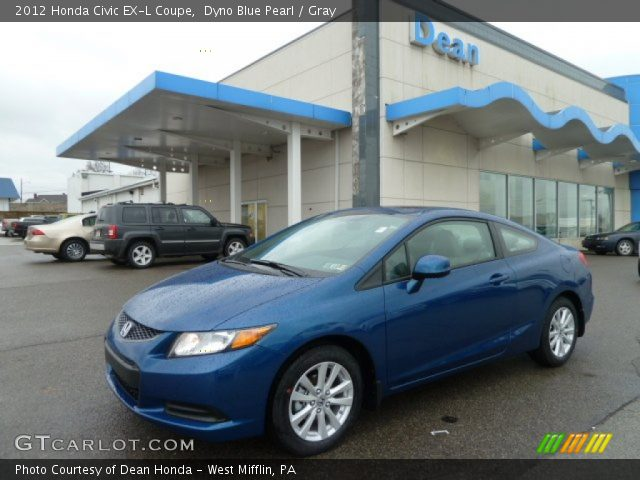 dyno blue pearl 2012 honda civic ex l coupe gray interior vehicle archive. Black Bedroom Furniture Sets. Home Design Ideas