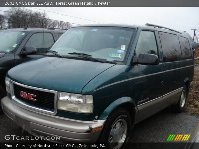 forest green metallic 2002 gmc safari sle awd pewter. Black Bedroom Furniture Sets. Home Design Ideas