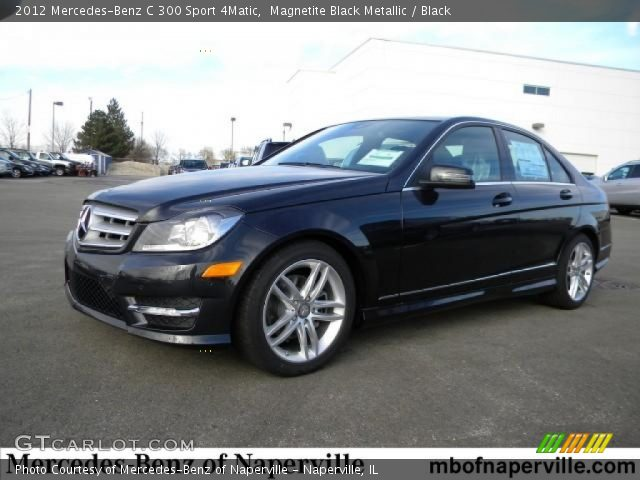magnetite black metallic 2012 mercedes benz c 300 sport 4matic black interior. Black Bedroom Furniture Sets. Home Design Ideas